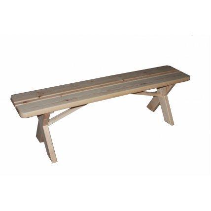 Скамейка без спинки хвоя 1,5м