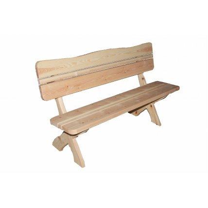 Скамейка со спинкой хвоя 1,5м
