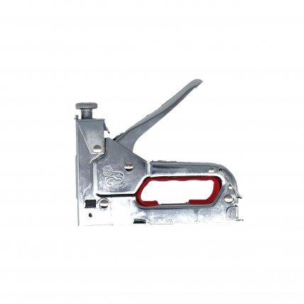 Пистолет скобозабивной ПРОФИ хром для скоб и гвоздей (тип 140)