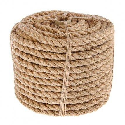 Веревка джутовая d 10 (350п/м в катуш)