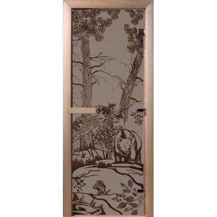 Дверь стекло бронза матовая МИШКИ 70*190