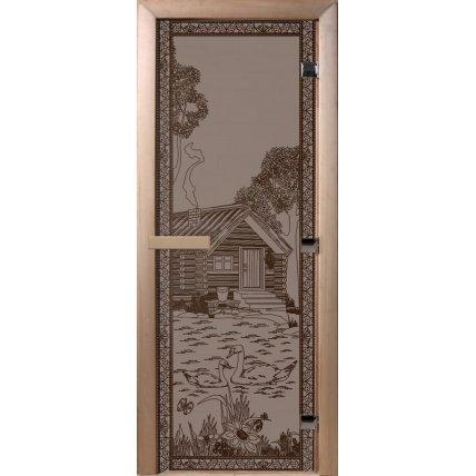 Дверь стекло бронза матов. БАНЬКА В ЛЕСУ70*190см