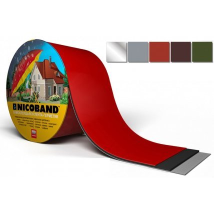 Никобенд Самоклеящаяся герметизирующая лента (красный) 3м*5см