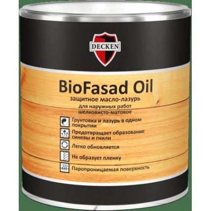 Защитное масло-лазурь DECKEN BioFasad Oil/Spice белое/0,75л