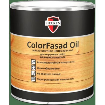 Масло цветное непрозрачное DECKEN ColorFasad Oil/TREND слоновая кость/0,75л