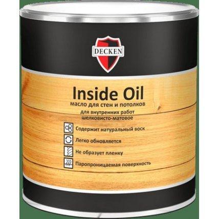 Масло для стен и потолков DECKEN Inside Oil/Spice белое/0,75л