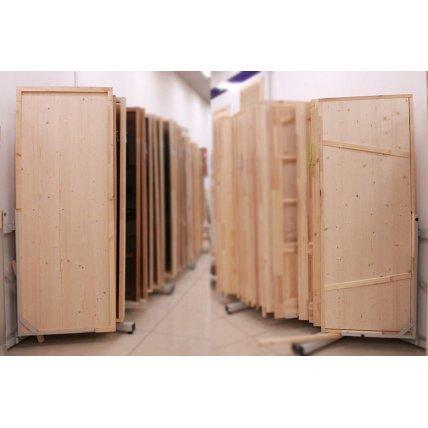 Дверной блок (сосна, ель) банная  18-7  (полотно 17-6 )(Вега)